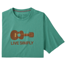 Live Simply Guitar Responsibili Tee Men Light Beryl Green
