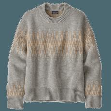 Recycled Wool Crewneck Sweater Women Sea Song: Salt Grey