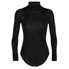 Queens LS High Neck Bodysuit Women Black