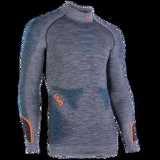 Ambityon UW Shirt LS Melange Turtleneck Men Black Melange/Atlantic/Orange Shiny