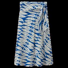 Kamala Midi Skirt Women Eucalyptus Fronds: Bayou Blue