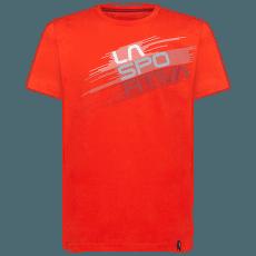 Stripe Evo T-Shirt Men Poppy
