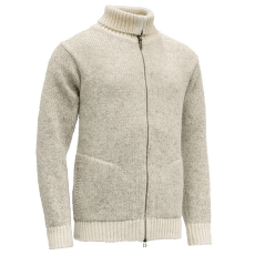 Nansen Zip Cardigan High Neck Grey Melange