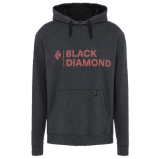 Stacked Logo Hoody Men Black Heather