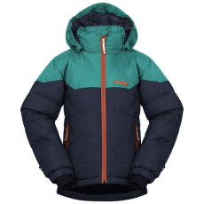Ruffen Down Jacket Kids Navy/Greenlake/Bright Magma