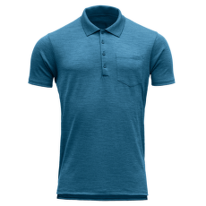 Grip Man Pique Shirt W/Pocket Blue Melange