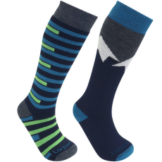 Merino Kids Ski 2 Pack - S2KNN BLUE/GREEN