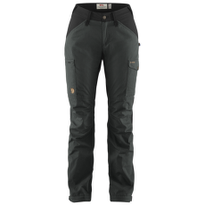 Kaipak Trousers Curved Women Dark Grey-Black