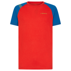 Stride T-Shirt Men Poppy/Neptune