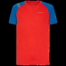 Stride T-Shirt Men Poppy/Neptune