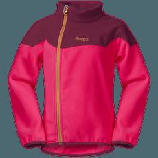 Ruffen Fleece Jacket Kids Dk Sorbet/Jam/Desert