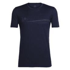 Tech Lite SS Crewe Cadence Paths Men Midnight Navy