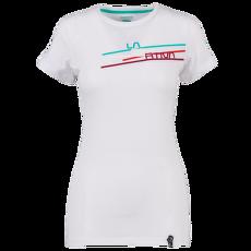 Stripe 2.0 T-Shirt Women White/Aqua