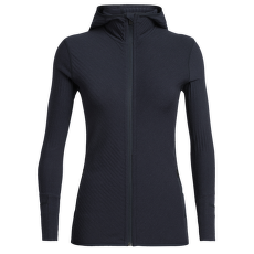 Descender LS Zip Hood Women Midnight Navy