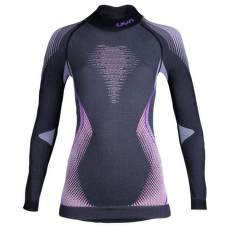 Evolutyon UW Shirt LS Turtle Neck Women Anthracite Melange/Raspberry/Purple