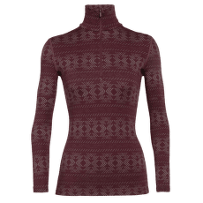 Vertex LS Half Zip Cristalline Women Redwood
