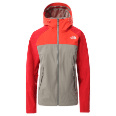 Stratos Jacket Women (CMJ0) Mineral Grey-Flare-Horizon Red