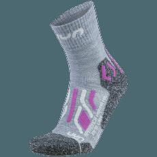 Trekking Approach Merino Mid Socks Women Light Grey/Pink