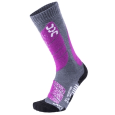 Ski All Mountain Women Medium Grey Melange/Purple