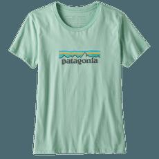 Pastel P-6 Logo Organic Crew T-Shirt Women Gypsum Green