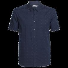 Compass SS Shirt Men Midnight Navy IBANS_01360