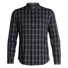Compass Flannel LS Shirt Men Black/Monsoon/Plaid
