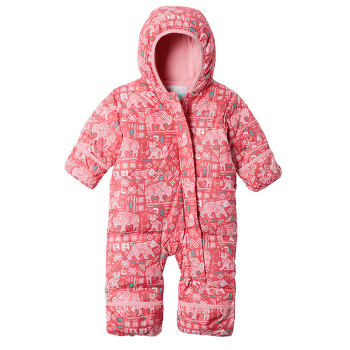 Snuggly Bunny™ Bunting Kids Bright Geranium Critter Print Pink Orchid