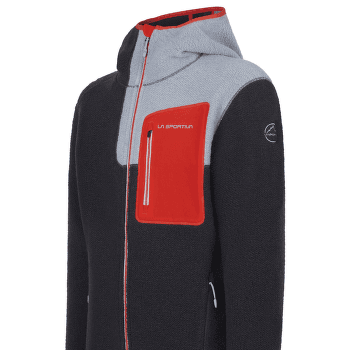 Agon Hoody Men Carbon/Poppy
