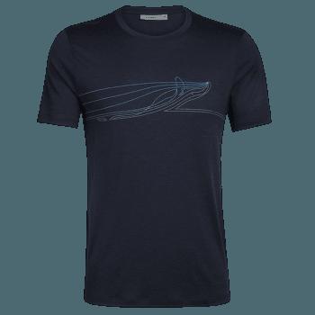 Tech Lite SS Crewe Single Line Whale Men Midnight Navy