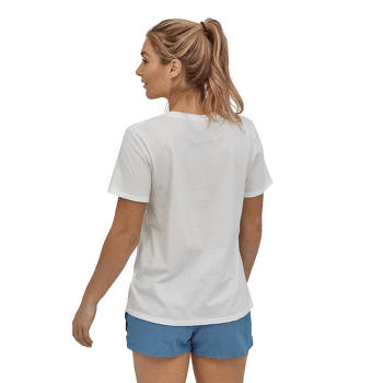 Pastel P-6 Logo Organic Crew T-Shirt Women Float Blue