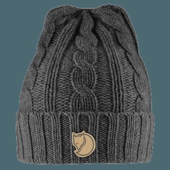 Braided Knit Hat Dark Grey 030