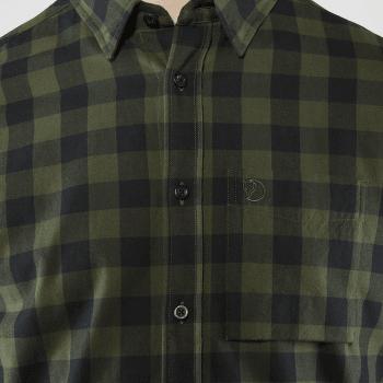 Övik Check Shirt LS Deep Forest