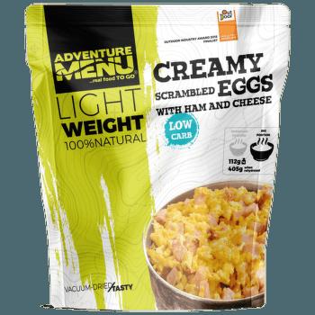 Krémová míchaná vajíčka se šunkou a sýrem - Velká porce