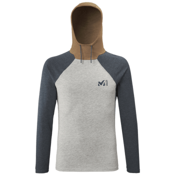 Red Wall Light Hoodie Men HEATHER GREY/ORANGE