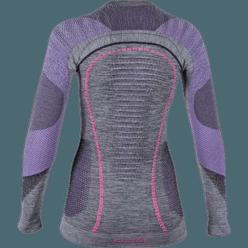 Ambityon UW Shirt LS Melange Women Black Melange/Purple/Raspberry