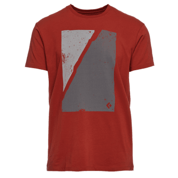 Block Print Mountain Tee Men Red Rock