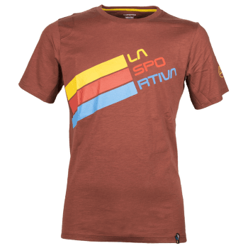 Stripe Logo T-Shirt Men Rust