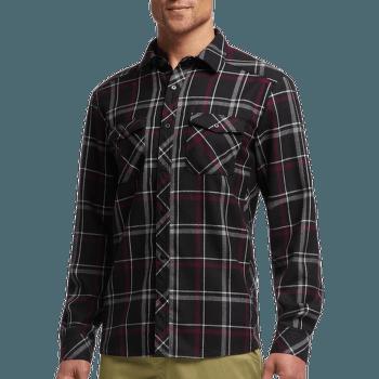 Lodge LS Flannel Shirt Men Carbon/Redwood