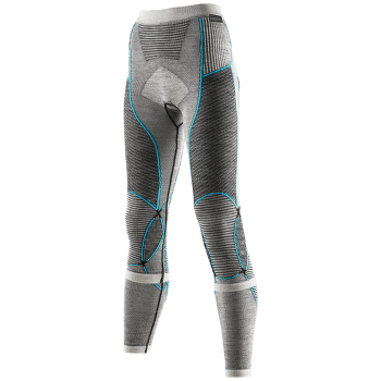 Apani Merino Pants Long Women Black/Grey/Turquoise