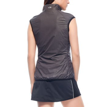Rush Vest Folds Women Black/Embossed