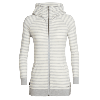 Crush LS Zip Hood Women Blizzard HTHR/Snow/Stripe