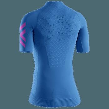 Twyce G2 Rrun Shirt SH SL Women Blue-Neon Flamingo