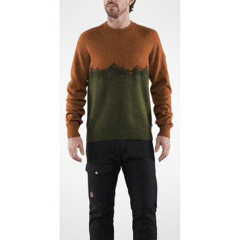 Greenland Re-Wool View Sweater Men Autumn Leaf