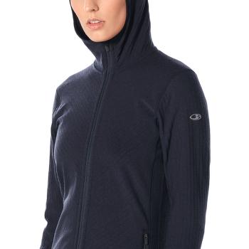 Descender LS Zip Hood Women Midnight Navy