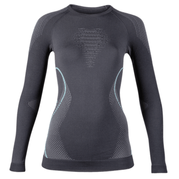 Evolutyon UW Shirt LS Women Charcoal/Anthracite/Aqua