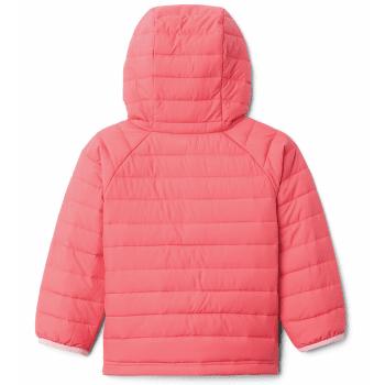 Powder Lite™ Hooded Jacket Girls Bright Geranium 673