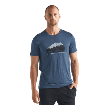 Tech Lite SS Crewe Icebreaker Mountain Men SERENE BLUE