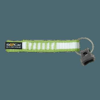 Expresní smyčky sešité (16 mm) bílo-světle zelená