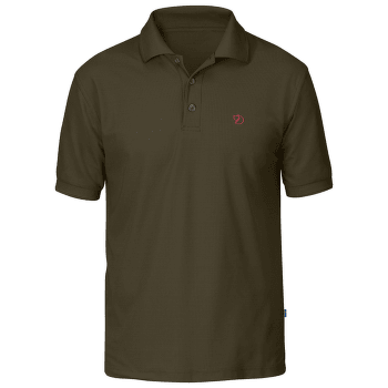 Crowley Pique Shirt Men Dark Olive