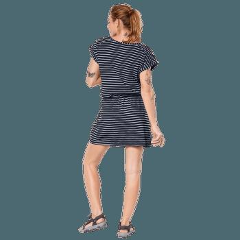 Travel Striped Dress hot coral stripes 7777